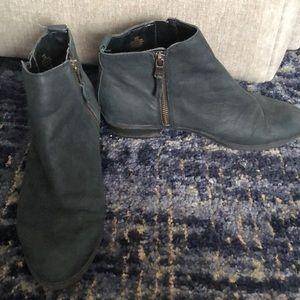Ralph Lauren Black Zipper Booties